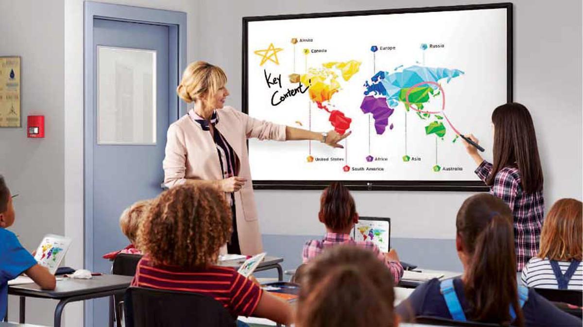 LG trae a la Argentina una pantalla interactiva para transformar la educación