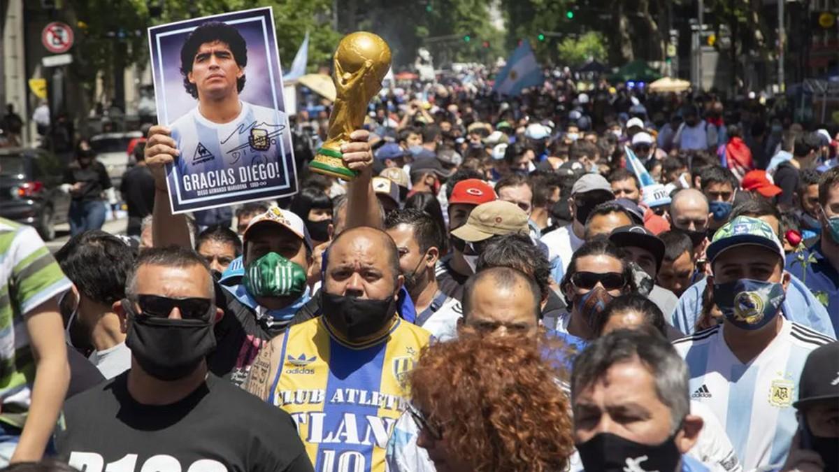 10-M: marcha para a pedir justicia por Diego Maradona