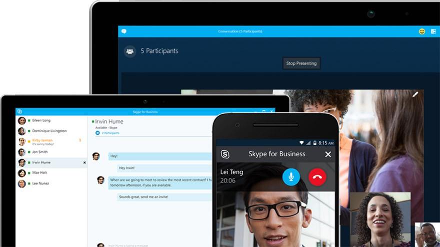 Skype Web y Skype Empresarial para trabajar desde casa